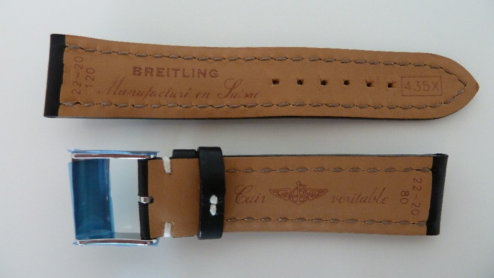 bracelet cuir breitling