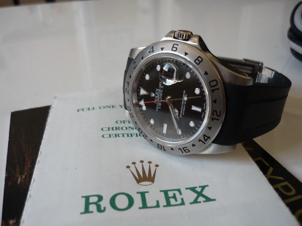 Coin Des Affaires Rolex Explorer Ii 16570 Sur Rubber B