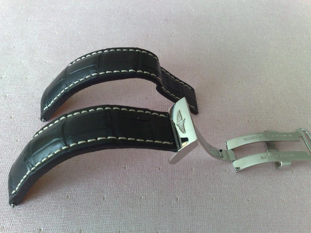 Bracelet cuir noir breitling