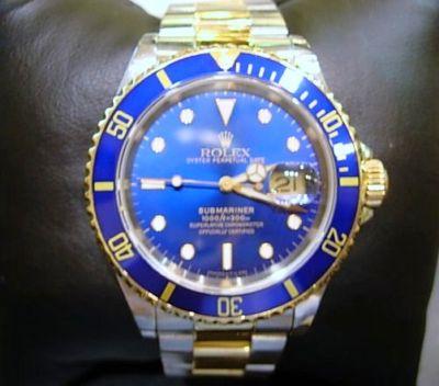 rolex bleu