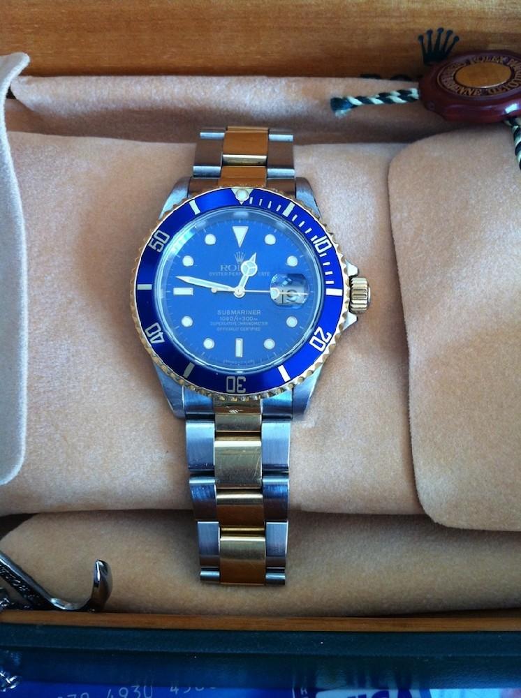 rolex submariner bleu
