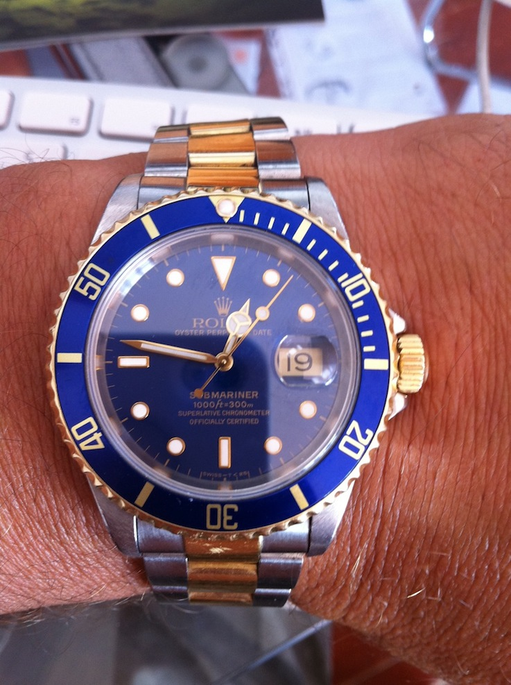 rolex submariner bleu