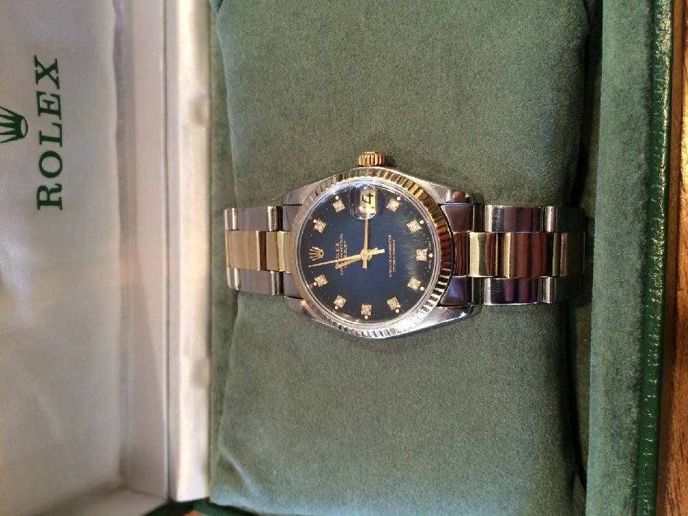 Rolex Datejust Or Acier Diamant