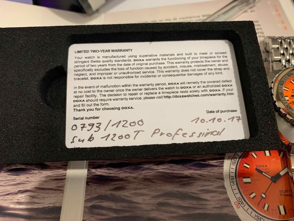 [Vends] Doxa SUB 1200 T Professionel Orange  Image34684