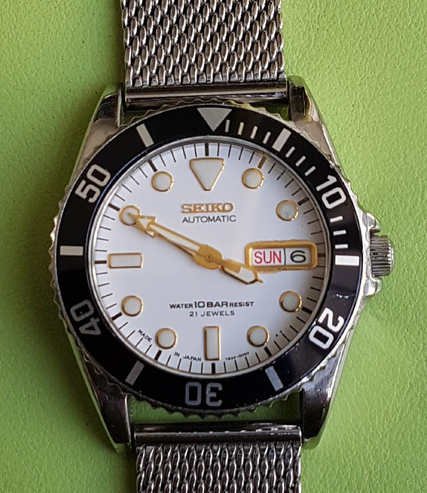 Vends - [Vends] Seiko Diver Skx021 cadran blanc index gilt 36mm - 150 € Image4573
