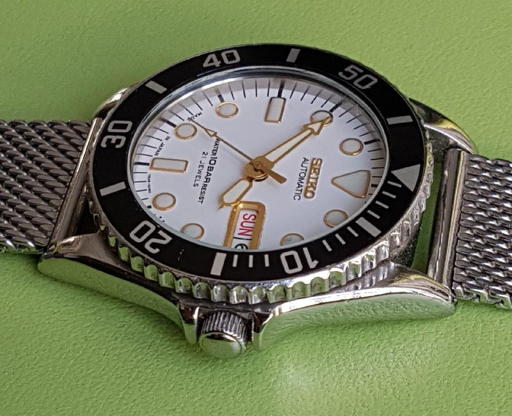 Vends - [Vends] Seiko Diver Skx021 cadran blanc index gilt 36mm - 150 € Image4575