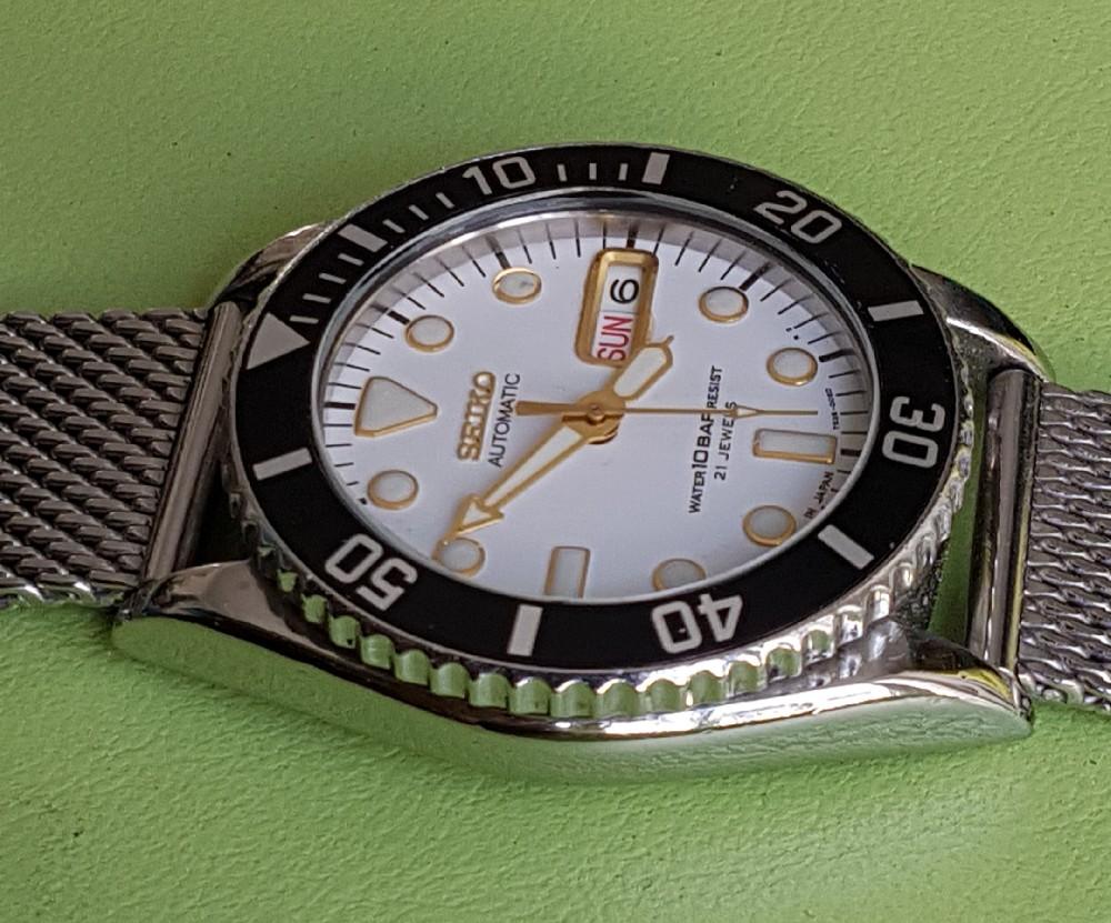 Vends - [Vends] Seiko Diver Skx021 cadran blanc index gilt 36mm - 150 € Image4576