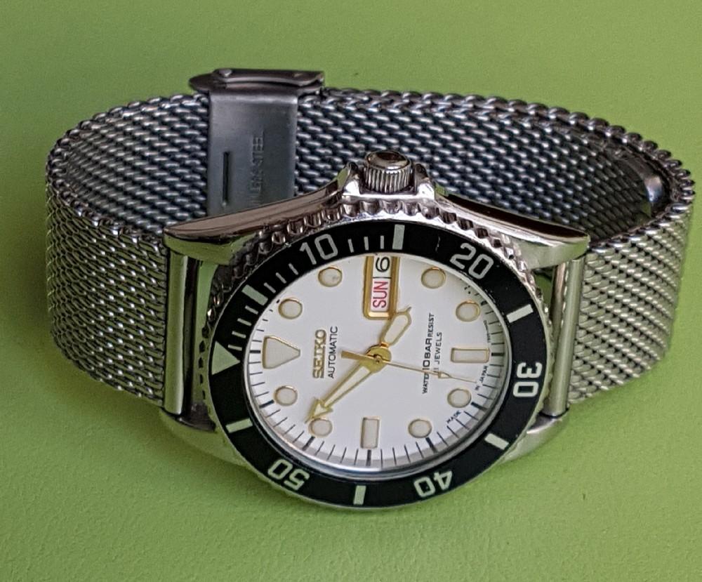 Vends - [Vends] Seiko Diver Skx021 cadran blanc index gilt 36mm - 150 € Image4580