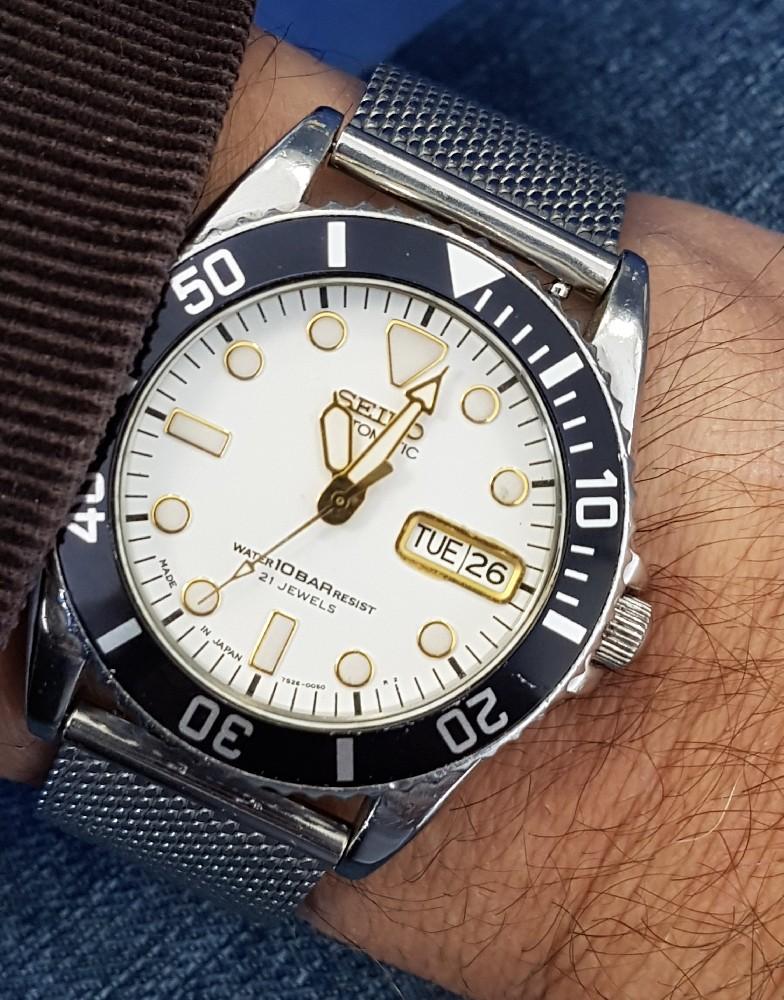 Vends - [Vends] Seiko Diver Skx021 cadran blanc index gilt 36mm - 150 € Image4582